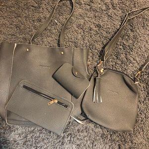 Handbags - *4* piece pocketbook set gray or black